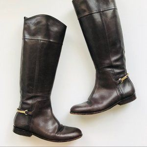 ❤️Tory Burch brown leather riding boots